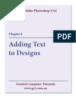 Learning Adobe Photoshop CS4 - Text