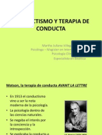 Conductismo y Terapia de Conducta