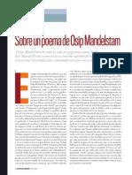 José Manuel Prieto, Sobre un poema de Osip Mandelstam, Letras Libres, 2009