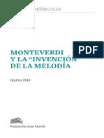 Monteverdi La Invencion de La Melodia