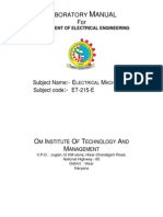 Electrical Machine-1 Manual.pdf