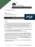 derecho de petición ref. cancelación de toreo en ferias de SanGil