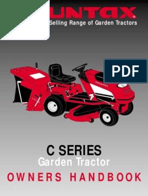 Countax Users Manual C Series Pdf Tractor Transmission Mechanics