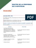 Aranceles CNR