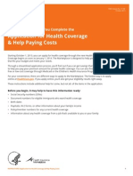 Affordable Care Act - Marketplace application instructions