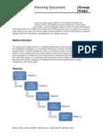 kaiju - week 5 - planning document