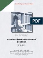 Guide Etudes Doctorales Ephe