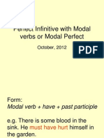 Perfect Infinitive with Modal verbs or Modal Perfect.ppt