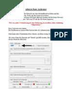 Anleitung Alberts Easy Activator