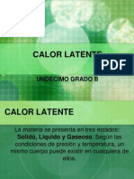 Calor Latente y Dilatacion Termica
