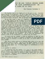 Fernández. Ana Francisco - Analisis ideologico de las Coplas hechas sobre un extasis de alta contemplacion de San Juan de la Cruz.pdf