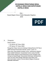Copy of Teknik Penyusunan Peraturan Desa