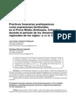 Practicas Funerarias Prehispanicas Rio Porce