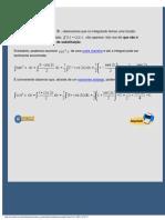 Primitivação por substituição - Exemplo 5