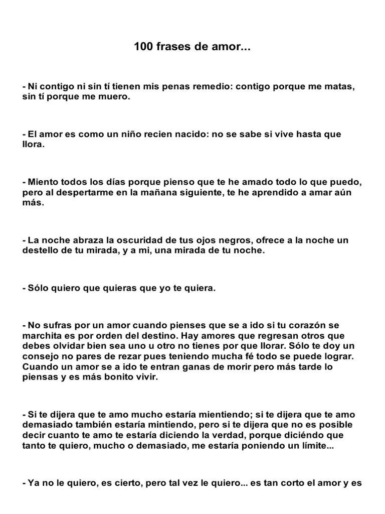 100 Frases De Amor