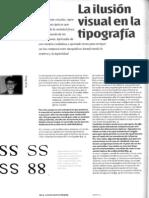 La Ilusion Visual en La Tipografia Anosal