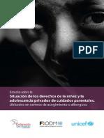 Estudio Sobre situacion de derechos de la niñez y adelecentes privados de cuidados parentales Unicef.pdf