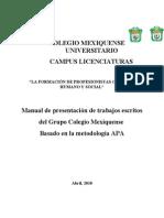 Manual de Metología GCM