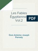 Dom Antoine Joseph Pernety - Les Fables Égyptiennes Vol.2