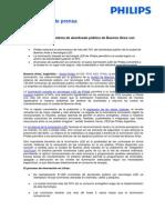 NP Philips Cambia Sistema de Alumbrado de Buenos Aires