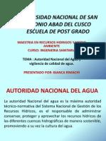 Autoridad Nacional Del Agua.bianca Rimachi