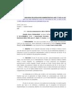 INTERPONE RECURSO DE APELACION ADMINISTRATIVA - art. 77 ley 11.683 - falta de incoporación de controlado