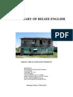 Belizean English Dictionary