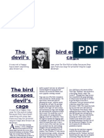 The Bird Escapes From Devil (Creative New Paper article)
