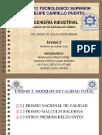 Unidad 2 Modelos de Calidad Total