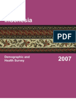 SURVEI DEMOGRAFI & KESEHATAN INDONESIA 2007
