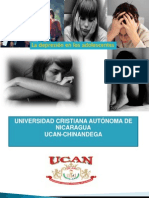 """""""La depresión en los adolescentes de 14 a 16 años del  Instituto Técnico Vocacional Rey Juan Carlos I"""""""