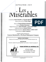 Les Miserables Act 2 Piano Conductor Score
