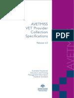 VET Provider Data Collection Specs