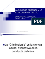 La Politica Criminal y La Etiologia Del Delito