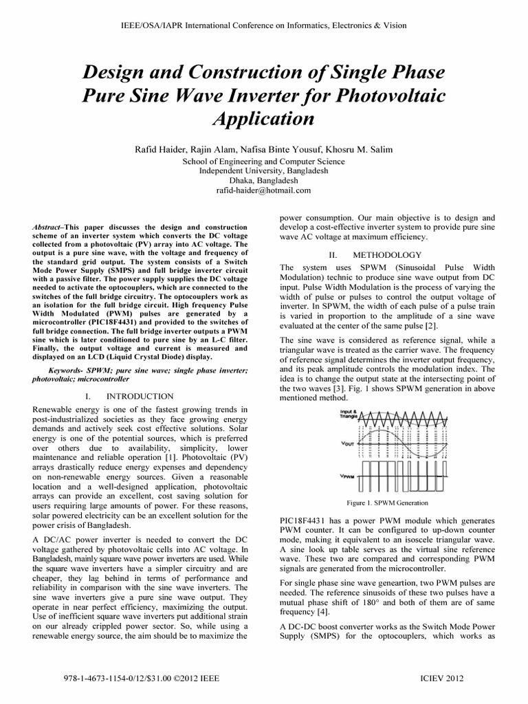 Pure Sine Wave Inverter Power Supply 5000 Watt Pwm Circuit Schematic Electronics