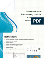 Geohelmintosis, Ascaris, Hymenolepiasis, Teniasis (1)
