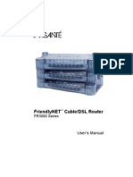 FriendlyNET™ Cable/DSL Router FR3000 Series User's Manual