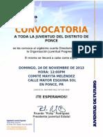 Convocatoria Directorio Juventud en Ponce