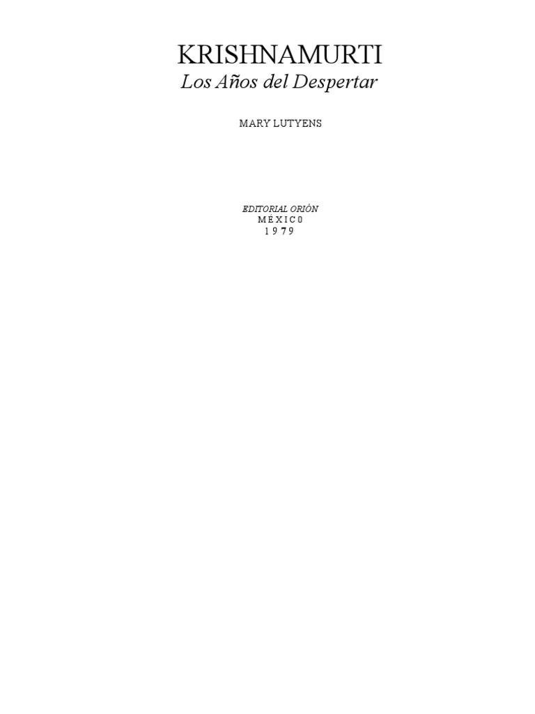 Lutyens, Mary - Krishnamurti Los años del despertar