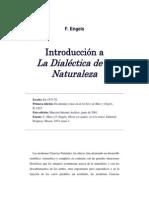 Engels Introducción a la dialectica de la naturaleza