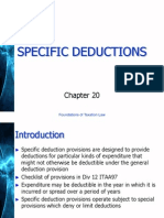 specific deduction on australian tax slides