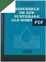 1. Adrian Cineti - Resurse de Ape Subterane Ale Romaniei 1990 (Pag 1-23]