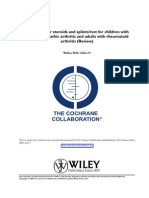 Cochrane - Intra-articular steroids and splints:rest for children with juvenile idiopathic arthritis and adults with rheumatoid arthritis (Review).pdf