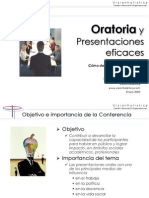 Conferencia Oratoria y Presentaciones Eficaces