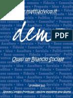 Mattia Civico, il bilancio della campagna elettorale 2013