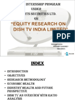 Equity Research Analysis of Dish tv ltd.