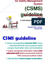 CSMS Guideline