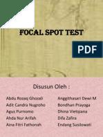 Focal Spot Test