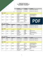 2013 Sec 3 Lesson Extension Schedule