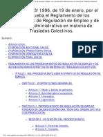 Real Decreto 43_1996, De 19 de Enero, Por El Que Se Aprueba El Reglamento De